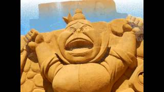 Sculpture de Disney à Oostende