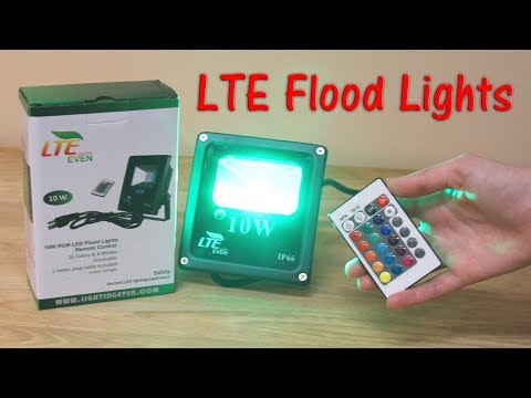 🌟LTE 10W Remote Control RGB 💥 LED Flood Lights (LIGHTING EVEN)  Review & Demo 👈