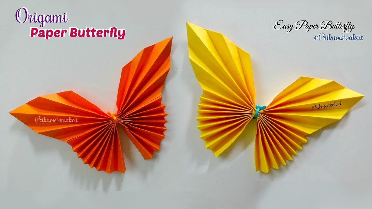 Paper Butterfly || How to make paper butterfly origami ...