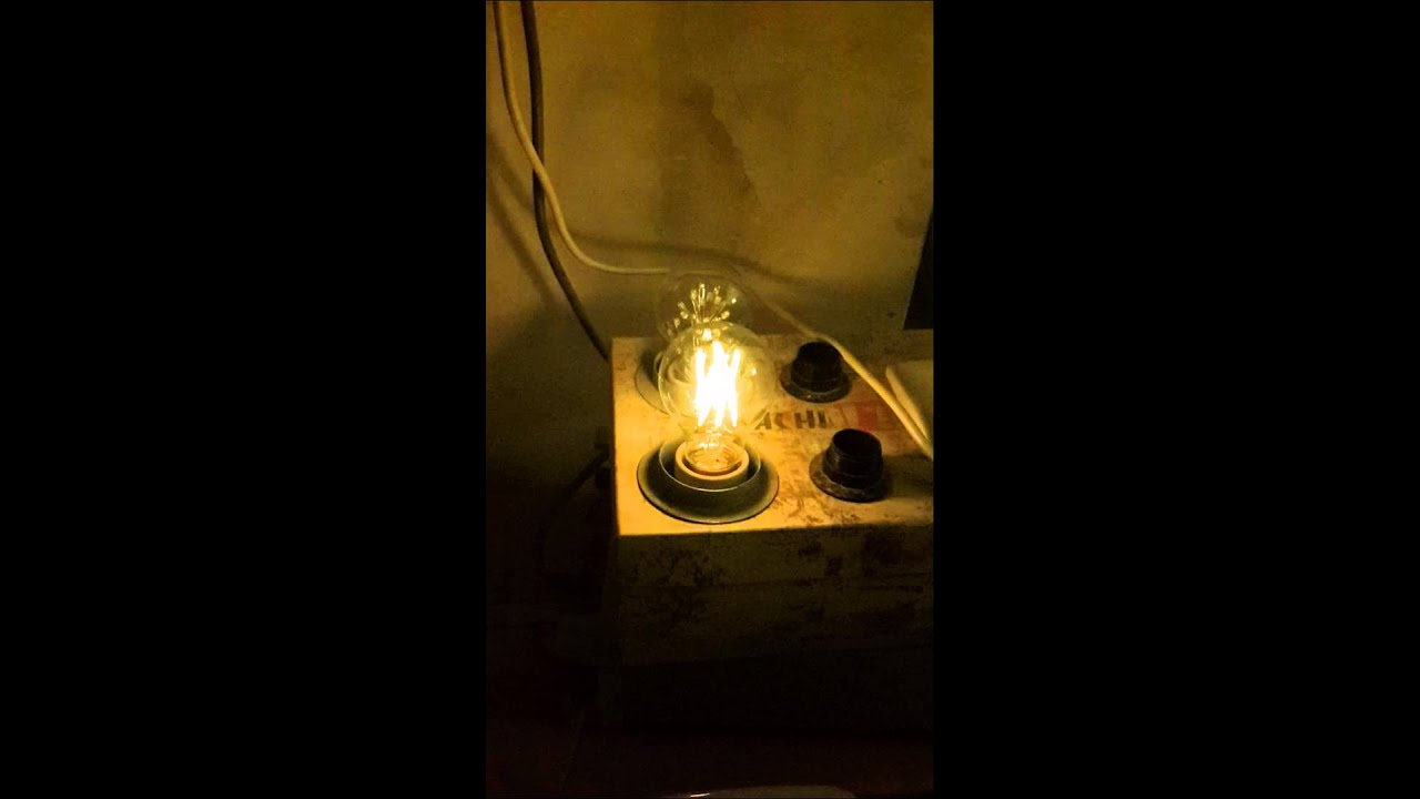 a19 3 6w e27 led filament bulb dimmable test from venusop youtube. Black Bedroom Furniture Sets. Home Design Ideas