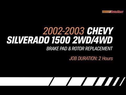 Replacing Brakes & Rotors on a Chevy Silverado 2 or 4 Wheel Steering - 2002-2003 - Make Model Series