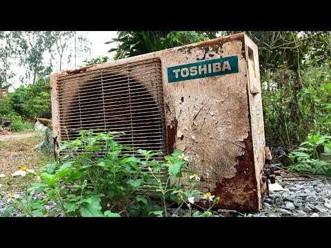 Restoration Old Rusty Air Condition TOSHIBA | Restore Air Conditioning Condenser
