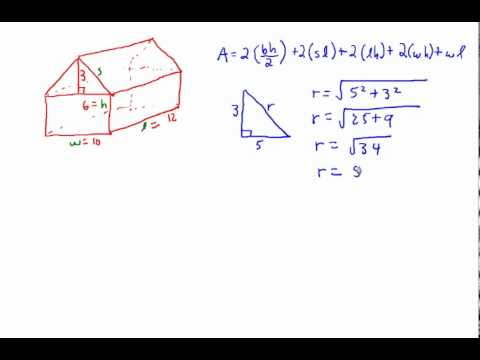 Pure Math 10: Determining The Surface Area Of A Garden Shed Or Barn