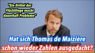 Hat sich Thomas de Maizière schon wieder Zahlen ausgedacht?