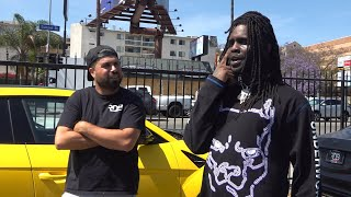 Chief Keef pulls up to check out his Lambo, Murdered Rolls Royce Phantom.