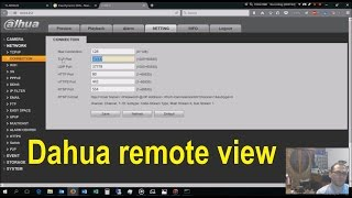 Dahua remote view setup - detailed!