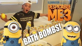 ULTIMATE BATH BOMB CHALLENGE WITH MINIONS