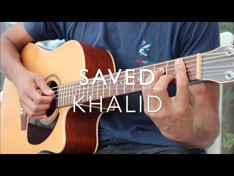 Saved Guitar Tutorial - Khalid (intermediate & Beginners)
