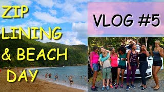 Zip Lining in The Caribbean & Afternoon at the Beach [VLOG 5] ✔️Jah-nette