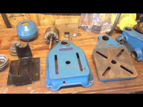 Vintage drill press restoration - Part 1 - Work shop tour - YouTube
