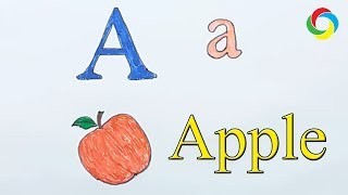 Learn alphabetically and draw the letter A | Apple