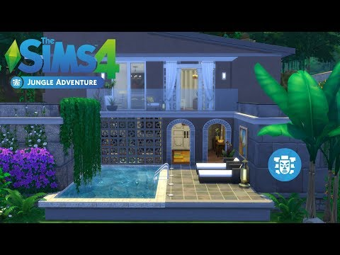The Sims 4 - Tiny Romantic Jungle Retreat (House Build) Jungle Adventure