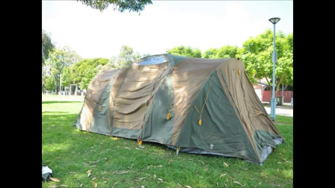 26 minutes Coleman Chalet 9CV Family Tent Setup & 26 minutes Coleman Chalet 9CV Family Tent Setup - YouTube