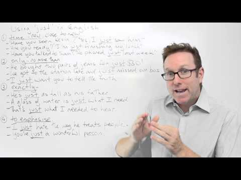 English lesson - Ways to use 'just' in English - gramática inglesa