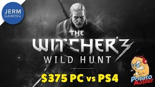 PC Vs PS4 - Can a $350 PC With 4GB of RAM Play The Witcher 3 - The Wild Hunt?
