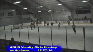 Acton Boxborough Girls Ice Hockey vs Andover 12/27/14