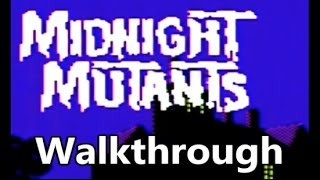 Midnight Mutants Atari 7800 Complete Game Walkthrough - The No Swear Gamer