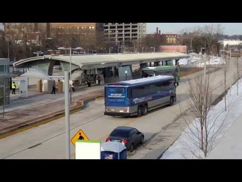 CT Fastrak Test buses New Britain Station 3-10-2015