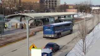 CT Fastrak Test buses New Britain Station 3-10-2015 Video