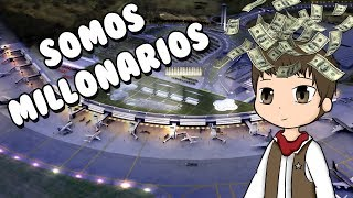 OUR OWN PRIVATE AIRPORT ? Roblox Ro-Port Tycoon in Spanish