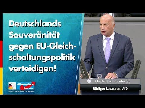 Deutschlands Souveränität gegen EU-Gleichschaltungspolitik verteidigen! - Rüdiger Lucassen - AfD