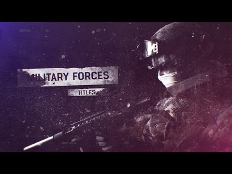 military forces titles after effects template youtube