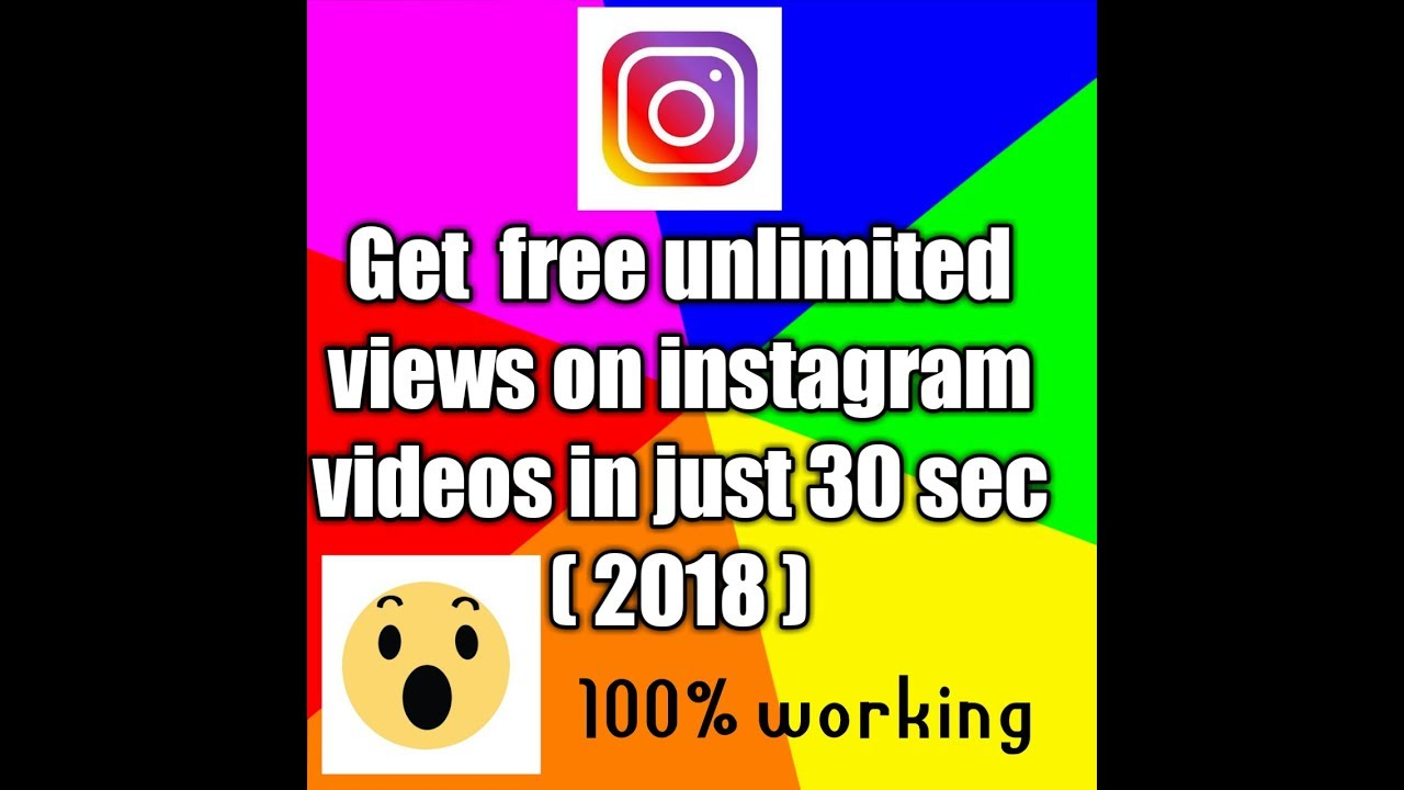 Get free unlimited views on instagram videos in just 10 seconds ( 2018) ||  100 % working