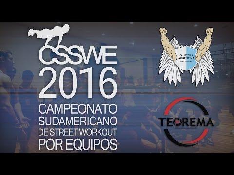 Campeonato Sudamericano de Street Workout por Equipos 2016 organizado por Calistenia Argentina