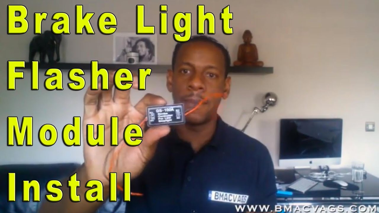 how to install a brake light strobe flasher module gs 100a [ 1280 x 720 Pixel ]