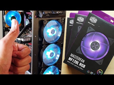 How To Install And Connect CoolerMaster RGB FANS MF120L RGB
