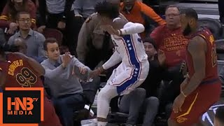 Robert Covington Flew To The Stands / Injury / Cavaliers vs Sixers