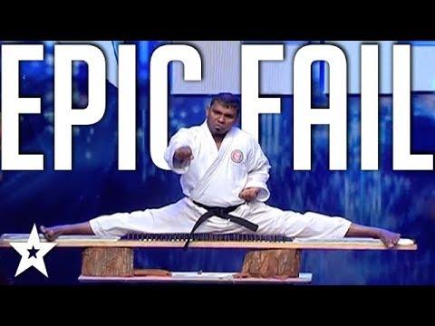 EPIC KARATE FAIL! Karate Audition Goes Wrong on Sri Lanka's Got Talent | Got Talent Global