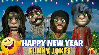 Happy new year talking tom funny New year jokes