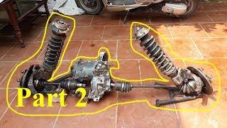 Homemade Lamborghini car part 2 - Rear axle suspension
