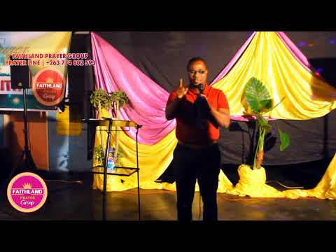 Prophet Yanney ministering at Faithland Prayer Group ZIMBABWE Part A