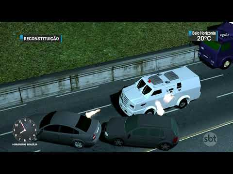 Caminhoneiro morre durante tentativa de assalto a carros-fortes | SBT Brasil (22/11/17)