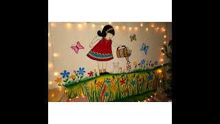 Garden Wall painting | Outdoor wall painting | WALL ART | MURAL