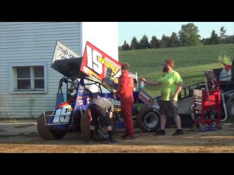 Trail-Way Speedway 358 Sprint Car Highlights 08-19-16
