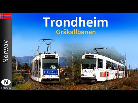 【4K】TRONDHEIM TRAM - Gråkallbanen (2019)
