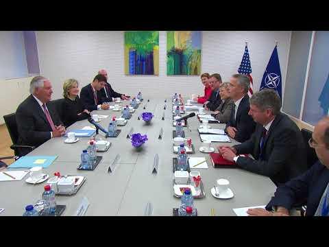 Secretary Tillerson Meets with NATO Secretary Jens Stoltenberg