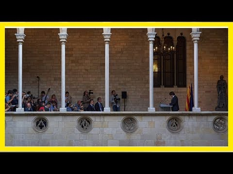Catalan leader will let lawmakers decide on independence Breaking Daily News