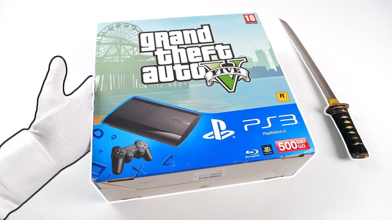 Ps3 Grand Theft Auto V Unboxing Playstation 3 Super Slim Gta 5 Console Youtube