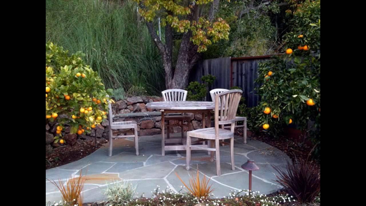 Cool Small patio garden ideas - YouTube on Garden With Patio Ideas id=85033