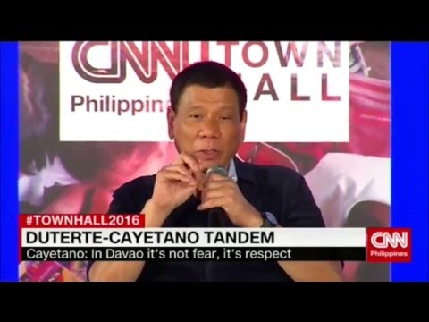 Town Hall 2016: Duterte-Cayetano