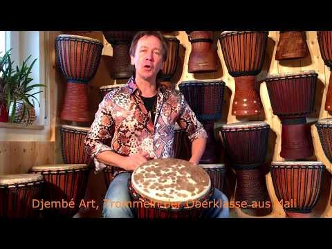 Djembé Art- Djembe Trommel Kaufen, ➽ Instrument Vorstellung Oberklasse Mali - German Version