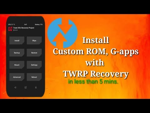 Install Custom Rom, Google Apps With TWRP Recovery | Bootleggers ROM 9.0