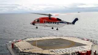 Transocean Spitsbergen helicopter take-off