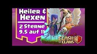 [295] Rh9.5 auf fast max Rh11 | Starke💪Heiler Hexen Kombi | | Clash of Clans COC Deutsch