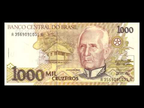All Brazilian Cruzeiro Banknotes - 1990 To 1993 Regular Issue