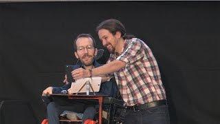 Así fue el acto de Pablo Iglesias y Pablo Echenique en Pamplona
